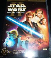 Star Wars Attack Of The Clones Episode II 2 DVD (Australian Region 4) - Like New