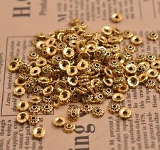 100Pcs Tibetan Silver Flower Bead Caps Spacer Beads Charms Findings Making A3081