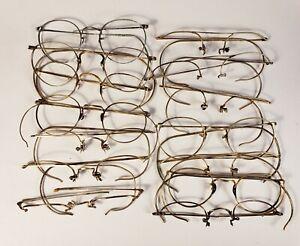100 grams gold-filled vintage eyeglasses. All marked 1/10 12KGF.  Scrap gold lot