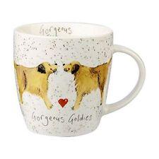 Alex Clark Fine China Squash Mug - Dog Gorgeous Goldies - Golden Retriever