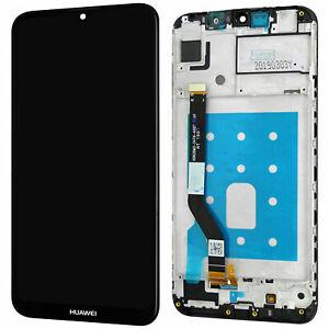 Huawei Y7 2019   Komplettes LCD Display  Schwarz   Bildschirm mit Rahmen