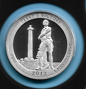 Ohio ATB Silver Quarter 2013 S Perry's Victory Silver Proof Quarter 90% Silver