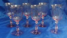 """Heisey PENN CHARTER HAWTHORNE WATER GOBLETS GLASSES 6-3/4"""" Signed"""