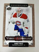 2019-20 Upper Deck Chronology Carey Price Time Capsules Rip Card NOT RIPPED