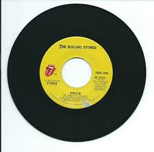 "1973 THE ROLLING STONES ""ANGIE"" 45 rpm 7"""