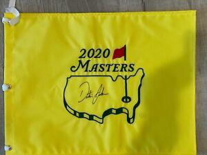 Dustin Johnson Autographed 2020 Masters Flag
