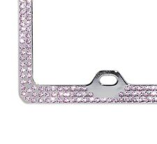 Embedded BABY PINK Crystal BLING Rhinestone License Frame w/ Swarovski Elements