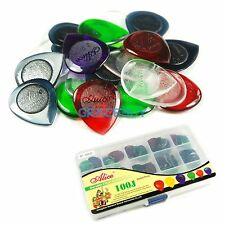 100PCS Acoustic Electric Guitar Bass Pick Plectrum+Pick storage Box Case 1/2/3mm