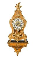 LARGE PENDULE IN LOUIS XV STYLE ON ORIGINAL CONSOLE FRANCE 19th CENTURY