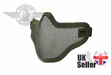Airsoft Tactical Mesh Lower Face Protective Mask Military Paintball - Olive