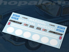 Scalextric/Slot Car 1/32 Waterslide Decals - E5 Marshals Car. ns039w