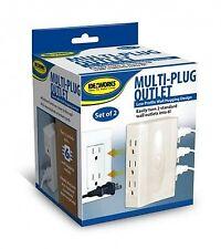 Ideaworks Multi Plug Outlet w/ Side Outlets (Set of 2)