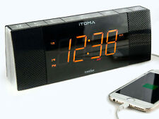 iTOMA CKS503BT Alarm Clock, FM Radio, Bluetooth, Dual Alarm, Cell Phone Charging