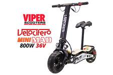 800W 36V Electric Scooter, Velocifero Mini Mad White 2020 Model, Lithium Battery