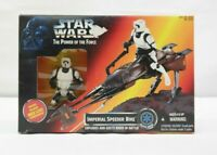 Hasbro Star Wars Power Of The Force Imperial Speeder Bike with Scout Trooper TY
