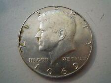 MONETA HALF DOLLAR - UNITED STATES OF AMERICA - 1969 ARGENTO SILVER  (S-O-7)