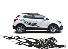 "2x Autoaufkleber Car Tuning Tribal  ""Tiger"" 160x30cm Farbe nach Wunsch MATT"