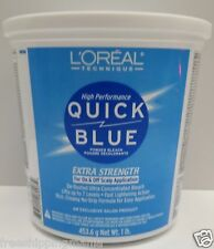 LOREAL QUICK BLUE EXTRA STRENGTH POWDER BLEACH ON&OFF SCALP APPLICATION 16oz