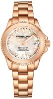 Stuhrling 3950L Women's Underwater Svelte 32mm MOP Stainless Link Bracelet Watch