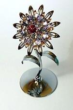 Crystocraft Giant Sunflower Swarovski Crystals Ornament Figurine Flower Gift