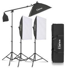 Kshioe Photo Studio 3 SoftBox Led Light Stand Lighting Kit Photography Equipment