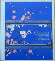 Chocolate Bar 1920s French Label - Printer's File Sample - Embossed, Color Litho