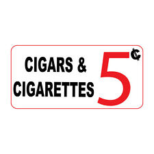 Cigars & Cigarettes 5C Retro Vintage Style Metal Sign - 8 In X 12 In