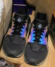 Nike Air Huarache Black Grey Blue Multi Colour Shoes Laced Trainers Size UK 7