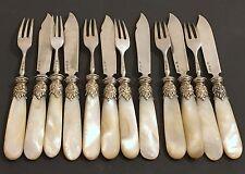 Antique Cutlery Flatware Pieces Set German Silver Sterling