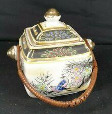 Schöne Dose mit Henkel asiatisch Porzellan