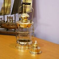 Antique Brass Vintage Ship Oil Lamp Hanging Collectible Gift