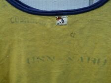 "Vintage 1940'S U S N Naru "" Reversib;Le Navy & Yellow Shot Sleeve Sweat Sz Sm"