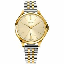 Classy horloge 34 mm goudkleurige wijzerplaat