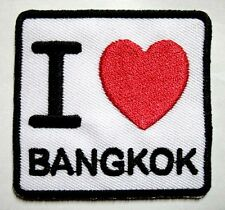 I LUV LOVE BANGKOK BKK SIGN LOGO Embroidered Iron on Patch Free Shipping