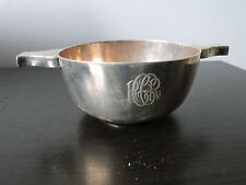 STERLING SILVER  HEAVY QUAICH/WINE TESTER MADE IN SHEFFIELD 1916  MARKED ANTIQUE