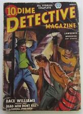 DIME DETECTIVE AUG 1937 CARROLL JOHN DALY CORNELL WOOLRICH HUGH B CAVE BONDAGE