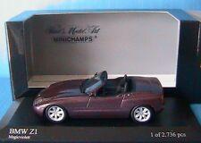 BMW Z1 CABRIOLET 1987 PURPLE METALLIC MINICHAMPS 400020101 1/43 MAGIC VIOLETT