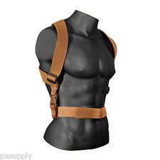 coyote brown combat suspenders tactical adjustable rothco 49194