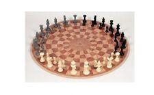 NEW 3 Man Player Circular Round Chess Board Game 48 Staunton Piece Toys Gift Set