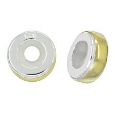 1x 18kt Gold Over Sterling Silver Rubber European Bracelet Stopper Bead #97218