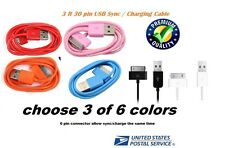 3 x 30 pin to USB Sync Data Charging Charger Cable for Apple iPhone 4 4S 4G 4th
