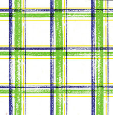 Printed Tissue Paper - Brushstroke Plaid Pattern - 240 Sheets