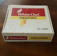 VINTAGE ♡  WHITE OWL MINIATURES 50 CIGARS CIGAR BOX ♡ ADVERTISING DECOR TOBACCO