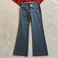Theory Womens 8 Max C Mildura Heather Grey Wool Blend Pants Act W 31 x I 34 3/4