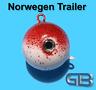 Norwegen Trailer, 90g 115g 140g 170g Sea Trailer, Kugelblei mit Öse, Jigkopf