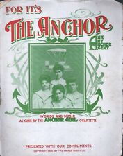 For It's the Anchor 1906 Anchor Buggies Large Format Sheet Music