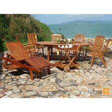 indoba® Gartenmöbel Set 9-teilig Sun Flair IND-70041 aus Eukalyptus FSC Holz