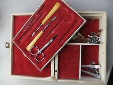 Music & vanity box 1950's vintage cream + some accessories TALLENT Old Bond St.