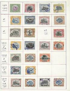 Guatemala stamps 1902 Collection of 24 CLASSIC stamps HIGH VALUE!