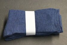 4 Pair's Women's Casual Dress Crew Socks 9-11 Solid Blue NAVY REFER TO PICTURE